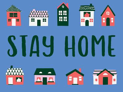 COVID19 stay home stay home covid19 design illustration design for good graphic designer illustrator