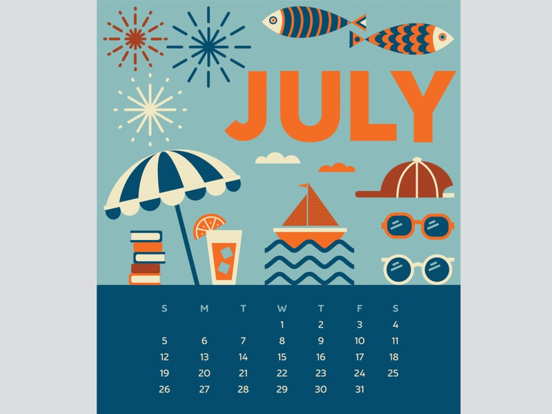 July 2020 Calendar Page calendar design icon design graphic design july design for good