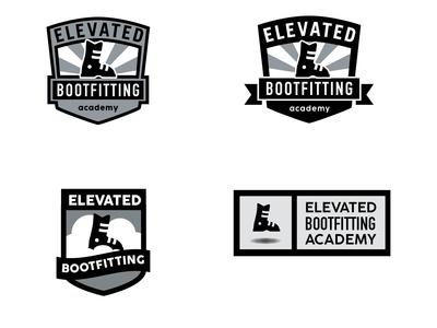 Logo Concepts for Elevated Bootfitting Academy