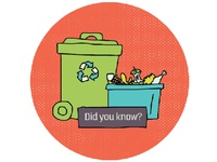 recycling + composting icon