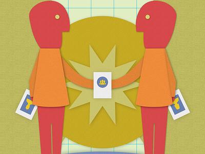 FBNY Badge Exchange poster illustration texture poster