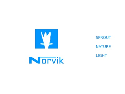 Norvik light nature sprout n sports brand logo