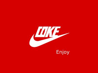 COKE - NIKE cola coca coke swoosh nike sports brand logo
