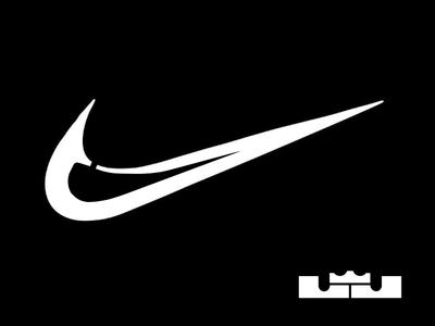 LJ james lebron lj swoosh nike sports brand logo