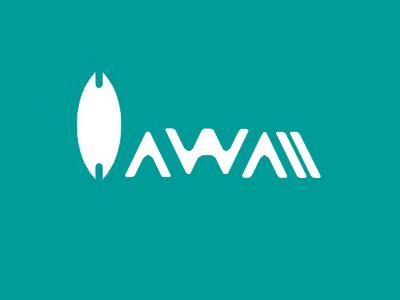 Hawaii ® Caffe surfing h caffee coffee hawaii brand logo