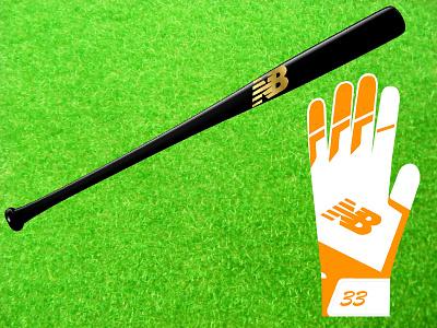 NB ® Batting Gloves baseball nb brand logo balance new