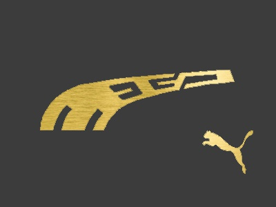 MEGA ™ gold mega puma brand logo