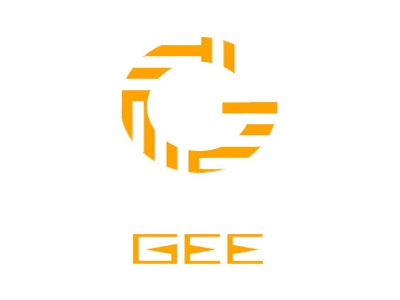 Gee brand logo gee orange g