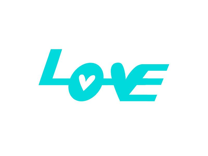 Love l heart love brand logo