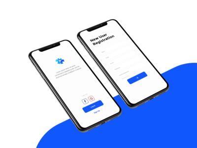 Splash & Sign up UI