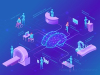 Artificial intelligence in healthcare infographics