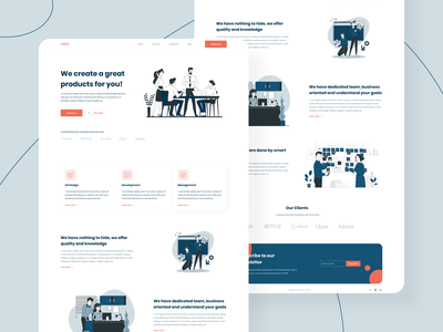 Design Agency | Landing Page company company profile design agency agency landing page web vector design clear ux ui