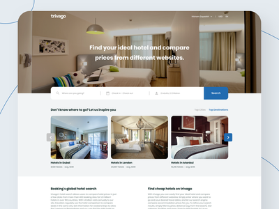 trivago - Web Redesign hotel booking hotel booking trivago redesign landing page web vector design clear ux ui
