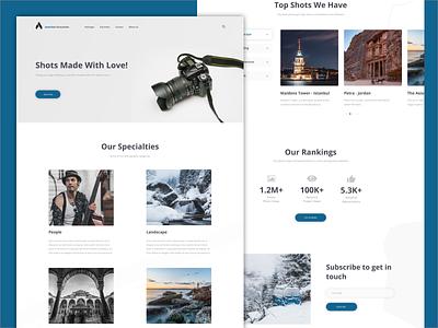 Photographer Website clear photographer landing page web design ux ui