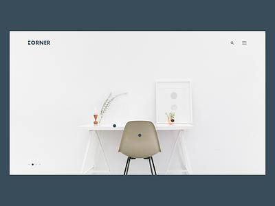 Furniture Website - Landing Page furniture branding logo clear vector landing page web design ux ui