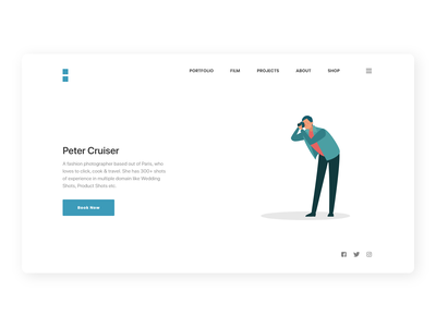 Photography Website photography landing page clear vector web ux design ui