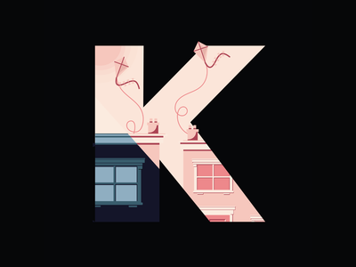 36 Days Of Type- KITE digital graphicdesign illustration letters letter lettering 36daysoftype07 36daysoftype 36days typography type typo flying kite