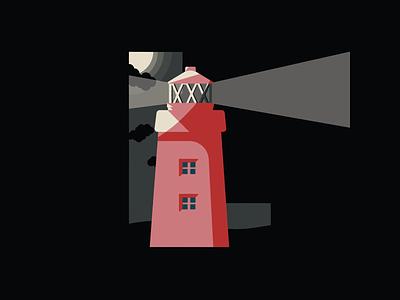 36 Days Of Type- LIGHTHOUSE typography typo type lettering letters letter 36days 36daysoftype07 36daysoftype illustration dark seaside sea lighthouse
