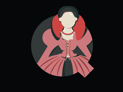 36 Days Of Type- QUEEN type letter letters lettering typography 36days 36daysoftype07 36daysoftype illustration queen of hearts royalty queen