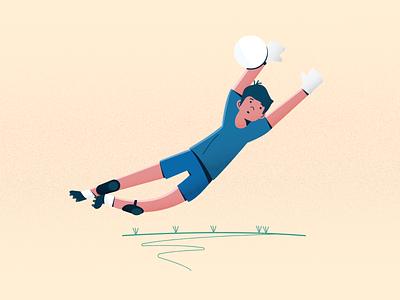 Goal Keeper footballer footie sport illustration sports design sport vector digital illustration illustration football