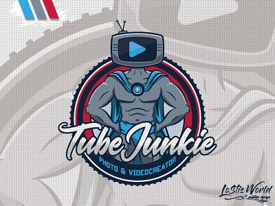 Tube Junkie hero twitch youtube gaming mascot logo