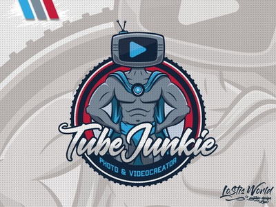 Tube Junkie hero twitch youtube gaming mascot logo