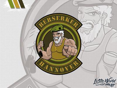 Berserker Hannover team soldier airsoft paintball mascot logo