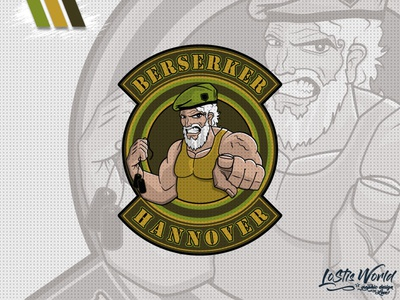 Berserker Hannover team soldier airsoft paintball mascot logo