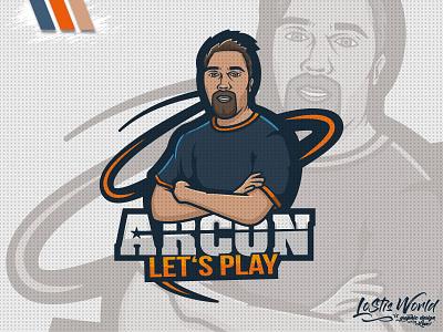 Arcon twitch youtube gaming mascot logo