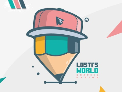 LoSti's World lostis world digital art artwork art vector branding pencil design mascot logo