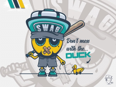 The Duck digital art artwork smile swag funny fun mascot design logo duck