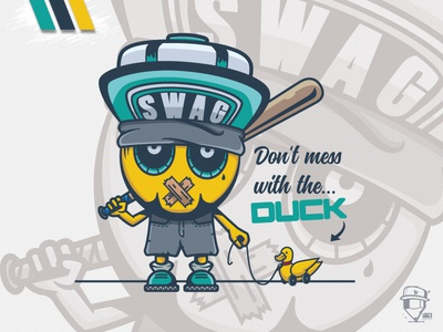 The Duck digital art artwork smile swag funny fun mascot design logo duck