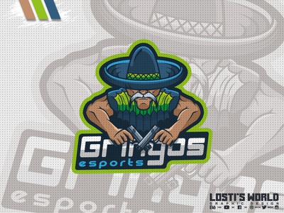 Gringos eSports digital art lostis world mascot artwork art vector branding mexico mexican gringos design mascot logo