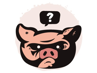So what so what ping rude angry evil porky piggy bad mad pig