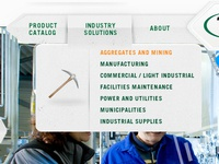 Industrial Solutions Dropdown
