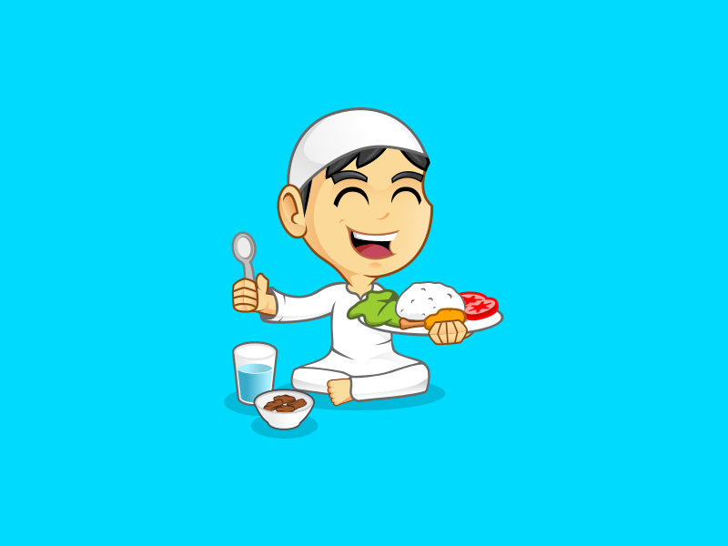 Pious Muslim Kid Cartoon Character By Ridjam Dribbble Dribbble