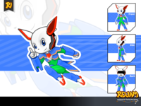 Robot Rabbit Cartoon Character