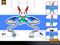 Robot Rabbit Cartoon Character Pose 3