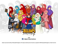 Muslim Woman Fashion Cartoon Characters
