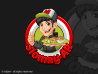 Siomay AR Cartoon Logo