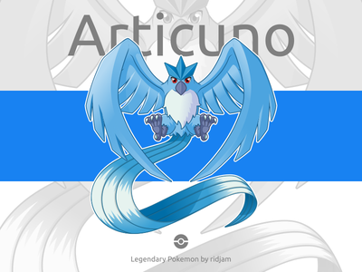 Legendary Pokemon Articuno articuno bird birds legendary cartoon anime mascot design character fanart pokemongo pokemon