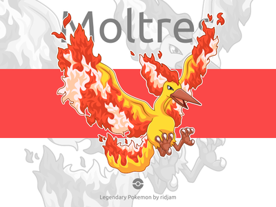 Legendary Pokemon Moltres  pokemon pokemongo fanart character design mascot anime cartoon legendary birds bird moltres