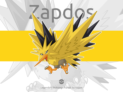Legendary Pokemon Zapdos pokemon pokemongo fanart character design mascot anime cartoon legendary birds bird zapdos