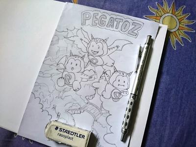 Pegatoz Fan Art Sketch game fantasy pencil ink inktober2016 inktober pen sketchbook fanart sketches sketching sketch