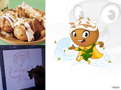 Gulu gulu Mascot Design hero super superhero kungfu bender air logo gulu gulu-gulu food design illustration mascot vector cartoon character