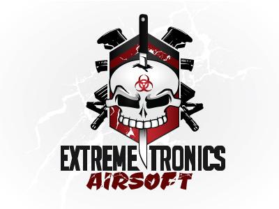 Extremetronic3 branding logo biohazard rifles airsoft logo skull logo