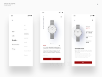 Watch ordering interface