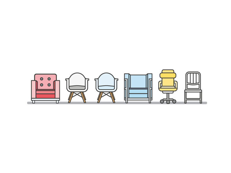 Some Famous Chairs icons amazon web services le corbusier amazon chair eames chairs