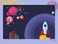Rocket Going To Dribbble Mars