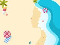 Beach Girl Illustration